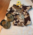 Build A Bear Desert Camo Military Outfit Army Soldier Shirt Pants Dog Tags Boots