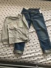 toddler girls heans and shirt size 6 and xsmall from the Gap