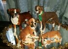 County Artists Boxer Dog Lot of 4 Boxer Puppy sleeping best of show brindle