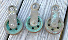 Lot of 3 Antique Marine Bronze Block Vintage Nautical Pulley WILCOX CRITTENDEN