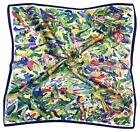 Multicolour Abstract Small Thick Silk Square Scarf (M2014)