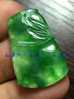 Certified 100% Natural A Jadeite Green bamboo joint Pendants Lady Jewlery JD0053