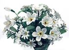 French Glass Seed Bead Beaded Flower Lot Handmade Floral Bouquet White Daisy