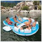 Inflatable Lake Raft 7 Person Pool Floating Tube Island Summer Party Rafting