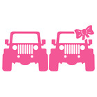Jeep Couple CJ7 TJ YJ JK JL Wrangler 4WD Decal Stickers available in Multi color