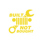 Jeep Built Not Bought 4x4 4WD Decal Stickers available in Multi color