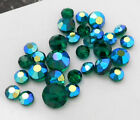 RETIRED VINTAGE GREEN AB SWAROVSKI CRYSTAL BEADS 6MM 78MM 10MM 163P