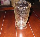 Floragold Louisa Celery Vase-CLEAR-RUFFLED (Jeanette Co.-1950's Vintage )REDUCED