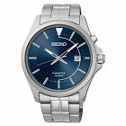Seiko SKA581 Kinetic Blue Dial Date Stainless Steel Men's Watch
