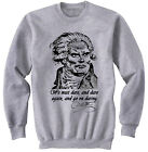 GEORGES JAQUES DANTON - NEW COTTON GREY SWEATSHIRT- ALL SIZES IN STOCK