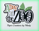 CRAFTECAFE MINDY ZOO ANIMALS DIECUT premade paper piecing TITLE scrapbook page