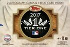 2017 Topps Tier One Baseball Hobby Pack Box (3 Cards) (Factory Sealed)