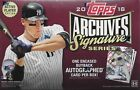 2018 Topps Archives Signature Series Hobby Box 1 Encased Auto Per Box