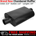 25 inches Center In Out Black 212126 Aluminized Steel Chamber Muffler