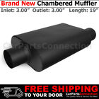 3 inches Offset In Center Out Black 212132 Aluminized Steel Chamber Muffler