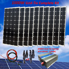 1000 Watt Grid Tie Complete Kit 10 x 100W Solar Panel  Power Inverter for Home