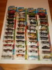 HOT WHEELS LOT OF 45 CLASSIC MUSCLE CARDS MINT ON CARD CAMARO BARRACUDAS