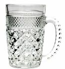Vintage Anchor Hocking Wexford Crystal Glass Large Mug 14oz 5