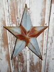 Primitive Vintage Repro Shabby Country Rusty Tin Hanging Star Small 8
