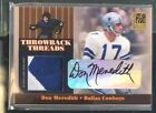 2006 Donruss Elite Don Meredith Troy Aikman patch AUTO 4 5 throwback threads wow