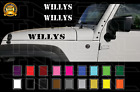 2 16 WILLYS Distressed Wrangler Rubicon Hood Decal Set Jeep Military Vinyl