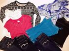 Girls Justice skinny Jeans Lot (3 Pairs) Size 12 S & 6 shirts size 12