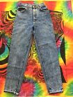 Vintage Lee Jeans Womens Acid Washed High Waist Tapered Leg MomSz 10MUSA made