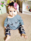 Newborn Toddler Infant Baby Boy Girl Clothes T shirt Tops+Pants Outfits Set