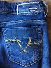 "Diesel ""Bebel B.C."" Naturally Distressed Bootcut Jeans Size 25 Made in Italy!"
