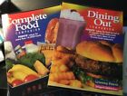 2 Weight Watchers Books Complete Food Dining Out w Bag and custom lists