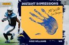 2017 Panini Instant Impressions Mike Williams 11x17 Hand Print Auto 1 1 Rookie