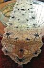 Realistic Spider Web Halloween Decor Table Runner Translucent Fabric 67x 13