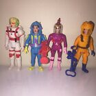 1980s Set Of 4 THE REAL GHOSTBUSTERS SUPER FRIGHT FEATURE Action Figures Kenner
