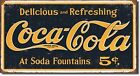Primitive Vintage Look Repro Shabby Country Tin COCA-COLA Rustic Sign