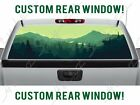 Green Mountains Hiker Woods Tree REAR Truck Perforated Window Decal Vinyl