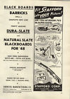 1948 PAPER AD Stafford Toy Bulldozer Diesel Bus Steam Shovel Train Set
