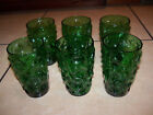 Set of 6 Vintage Forrest Green Drinking Glasses Bryce Brothers El Rancho