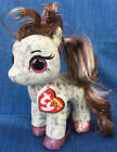 W-F-L Ty Beanie Boos Cinnamon Pony Horse Spotted 5 7/8in Glubschi Boo ´ S