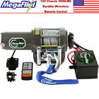 3500lbs 12V Electric Recovery Winch Truck SUV Durable Remote Control 4WD Trailer