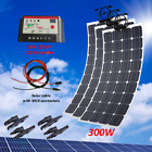 300W 12V Solar Panel Kit for Motorhome Battery Charger Marine Boat Roof Off Grid