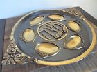 Vintage Brass Passover Seder Plate Made in Israel