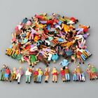 100pcs HO Scale Painted Figures People 187 Model Train Passengers assorted Pose