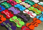 Any Color Combo Dog ID Tag Bone Easy To Read Highly Visible USA SELLER