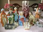 VINTAGE NATIVITY SET PORCELAIN HOMCO  5216 9 PC Christmas