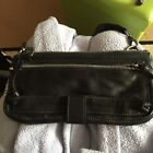 Oushka London Black Leather Across Body Bag Small