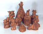 Native American Indian Nativity Scene 10 Piece Creche Set With Teepee Provincial