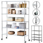 4 5 6 Tier Heavy Duty 82x48x18 Wire Shelving Rack Steel Shelf Adjustable