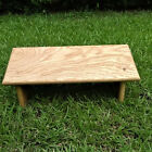 Solid Oak Seiza Bench for Zen Meditation