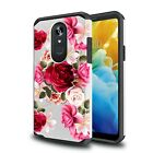 Fits  LG Stylo 4 4 Plus  Case Rubber Sturdy Dual Layer Cover + Tempered Glass