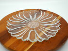 Set of 8 Vintage Hazel Atlas Sunflower Clear Glass Snack Luncheon Plate 10